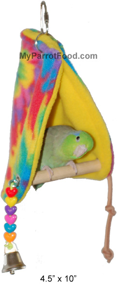 "Super Bird Peekaboo Perch Tent-Sm. (4.5"" W x 10"" L)"